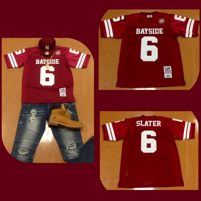 """Headgear Authentic AC Slater """"Saved By The Bell"""" Football Jersey Burgundy    White a69326c9068e"""