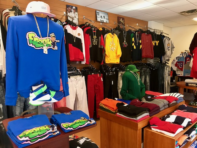 Mens clothing in Fresh and Fly Store