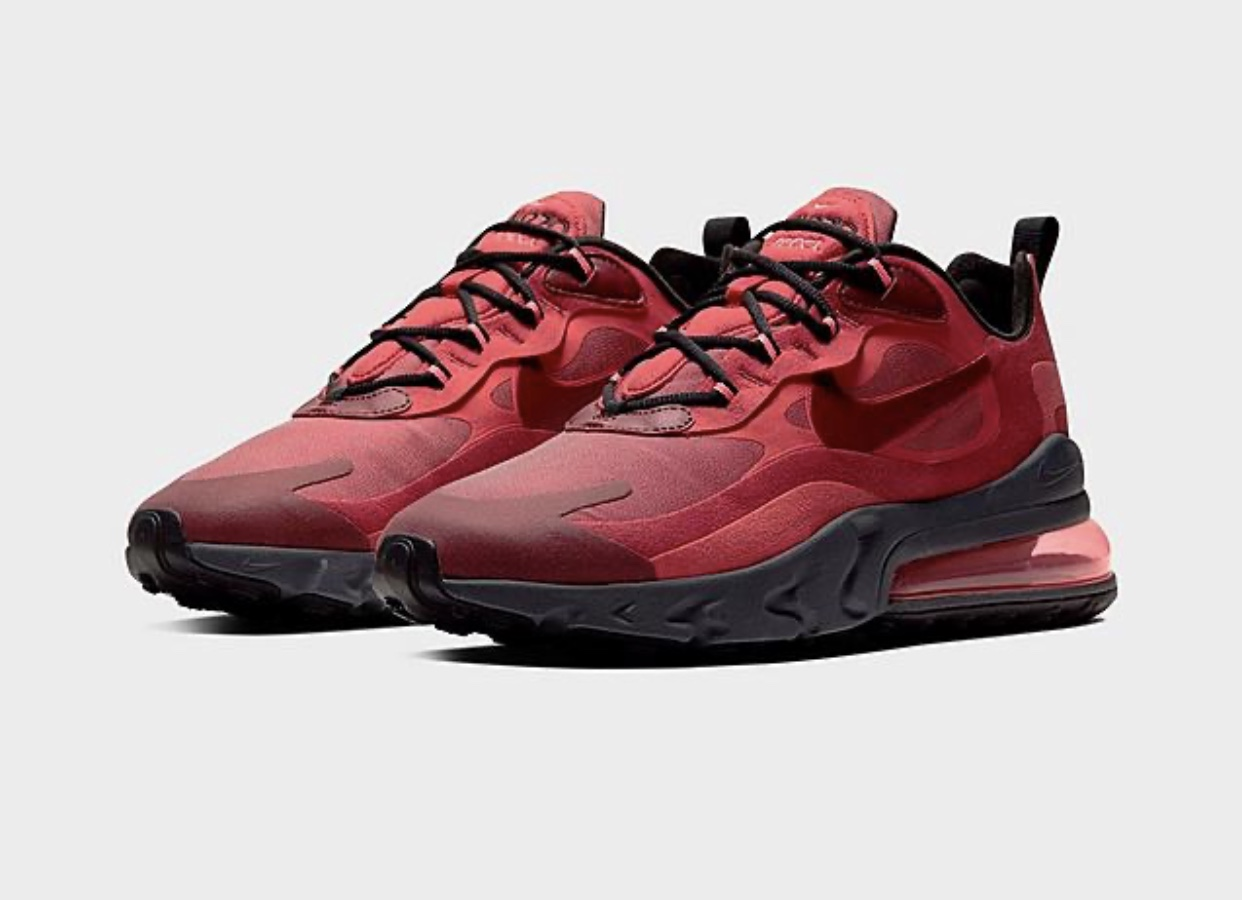 Nike Air Max 270 React Men Track Red Fresh And Fly Clothing